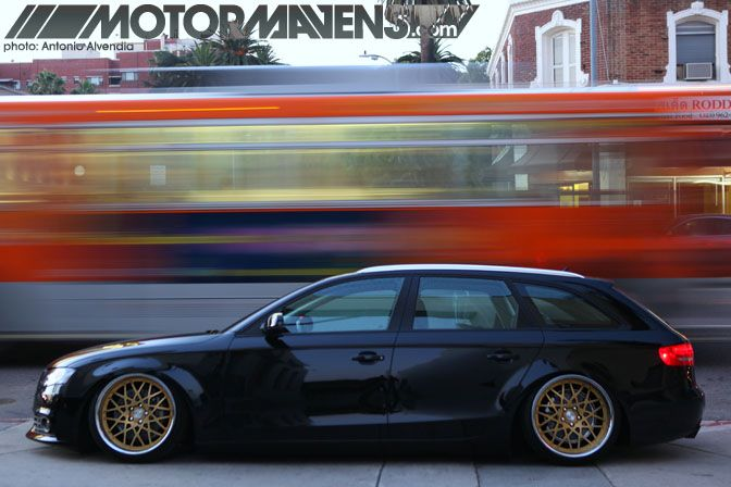 Or Audi a4 avant with Rotiform BLQ's. Possibly a bit low for the school run.