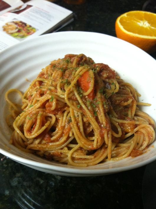 Quick Ricotta Spaghetti - and it's a Weight Watchers Simple Start/Simply Filling recipe!