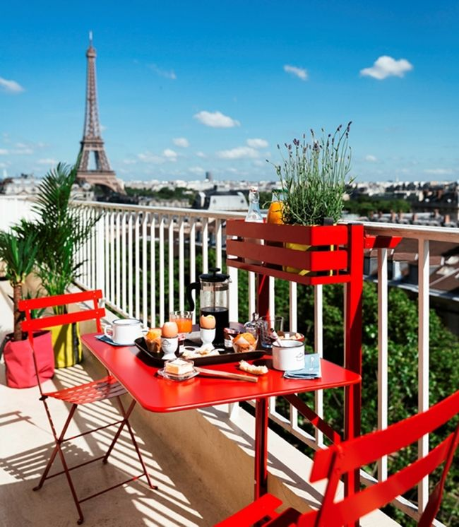 17 best images about terrasse et balcon terrace and balcony on pinterest g - Table accroche balcon ...
