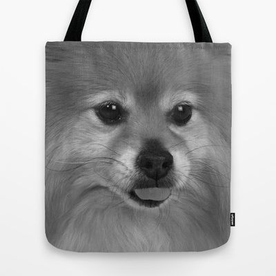 Cute Pomeranian dog Tote Bag by Bruce Stanfield - $22.00