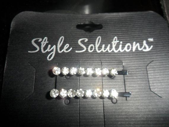 Vintage Rhinestone Bobby Pins by PandBTreasures on Etsy, $5.00