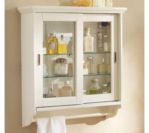 like it: Bathroom Wall Cabinets, Wall Storage, Bathroom Ideas, Small Spaces, Small Space Solutions, Bathroom Makeover, Sliding Doors