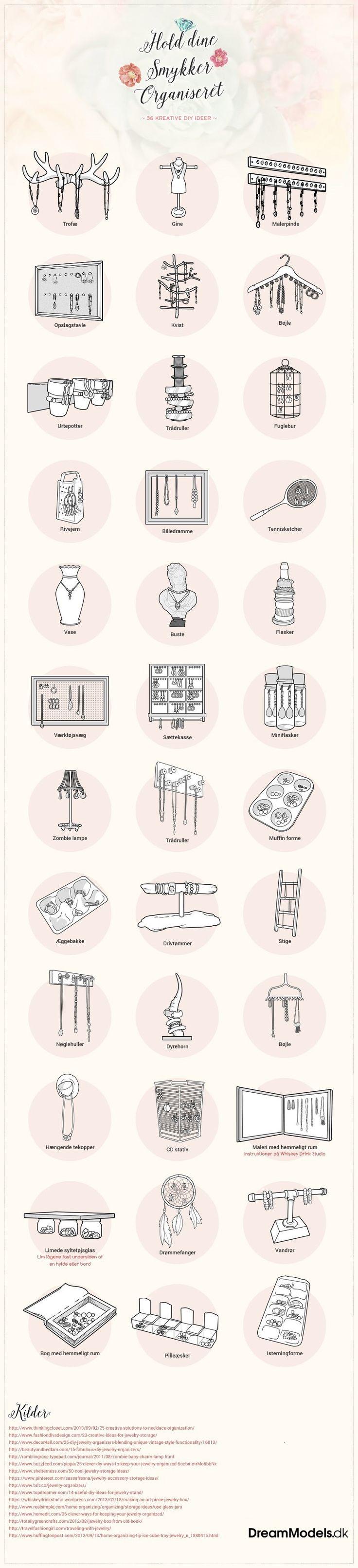Til til at få styr på dine smykker med et af de her kreative projekter?
