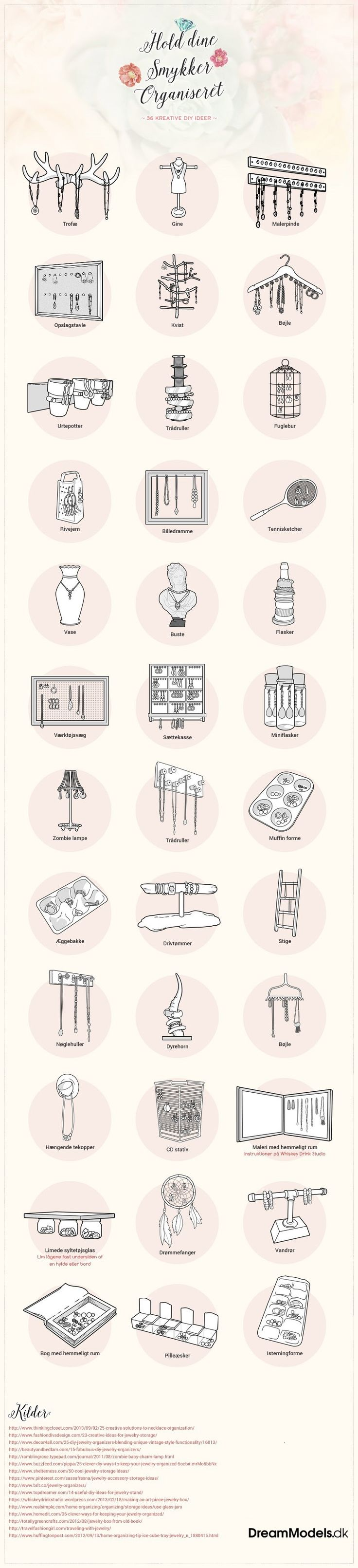 36 kreative smykkeopbevaring ideer
