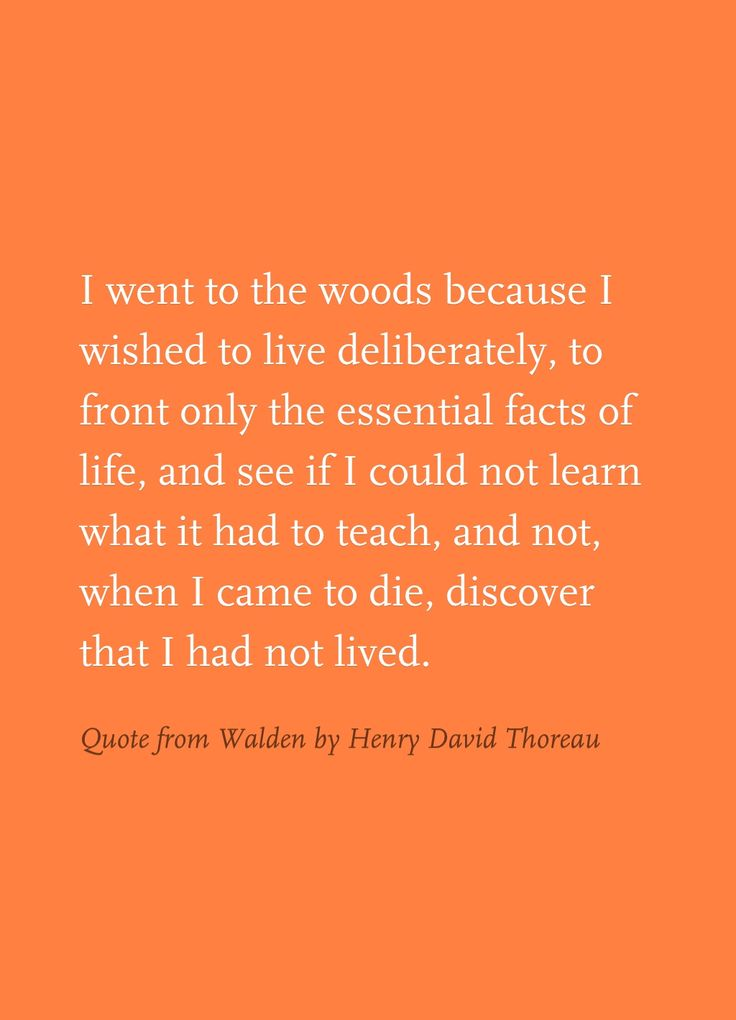 thoreaus experiment walden and carpe diem essay Henry david thoreau addresses these issues in his essay including walden and was the exact definition of carpe diem itself thoreau's work is a.