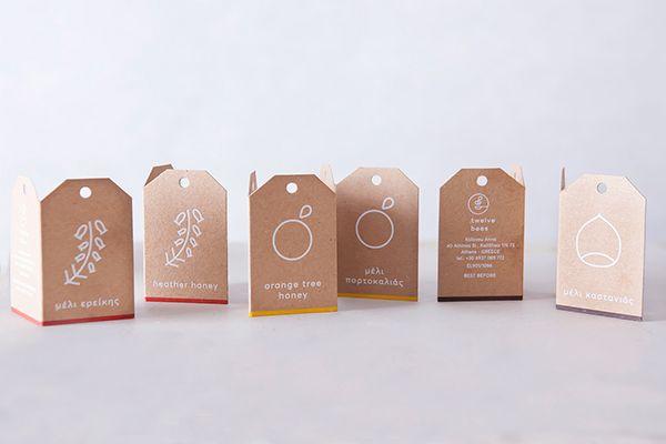 Twelve Bees   Kraft Paper Tags