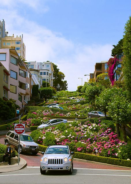 Lombard Street in San Francisco, USA it's the most crooked street in the world.
