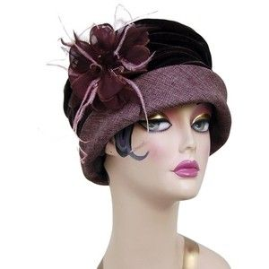 1920s cloche hat.