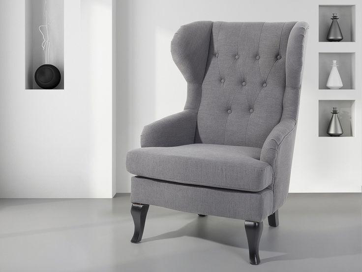 Fotel tapicerowany szary - krzesło - ALTA Kupuj bez ryzyka z odroczonym terminem płatności z gwarancją 100 dni na zwrot towaru