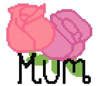 Missy Moo Crochet: Mum with flowers graph 70x60