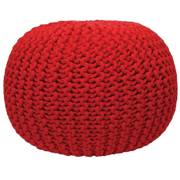 Red Gumball Ottoman - IDC - IDC