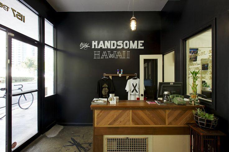 Simple Black Walls Modern Shop Design Barber Shop Redo