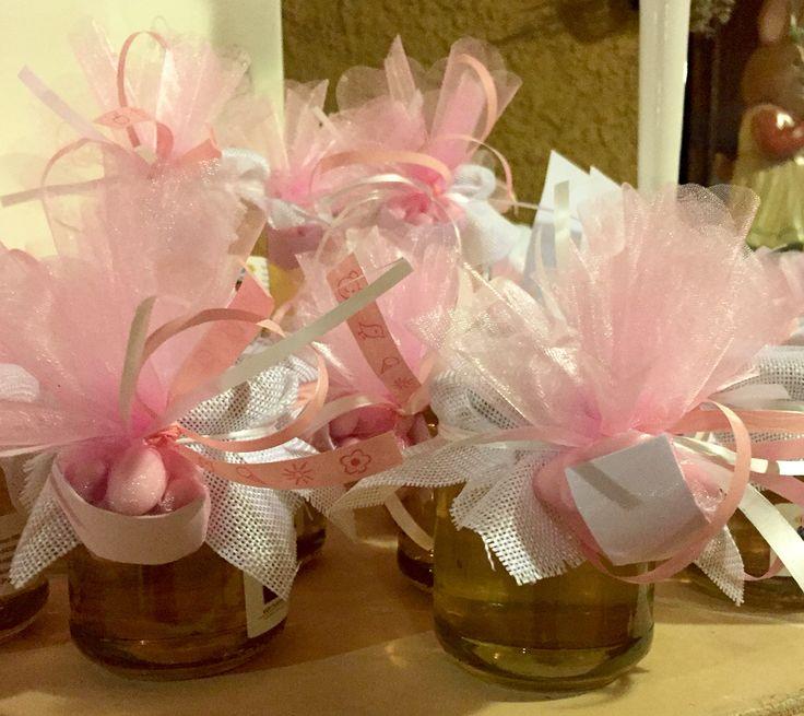 Bomboniere Battesimo Bambina #bomboniere #battesimo #sosweet #honey #miele #originalfavor #rosa #pink #bambina #miele #confetti #tulle