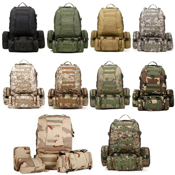 50L Outdoor Tactical Sports Camping Hiking Rucksack Backpack