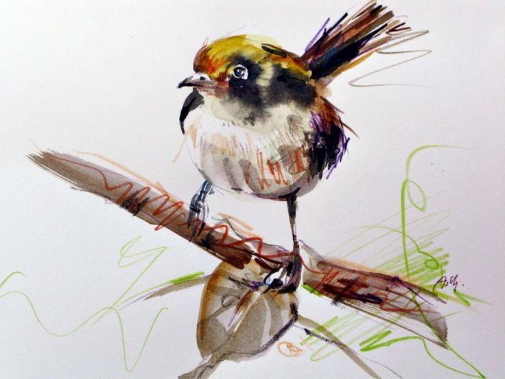 sketch bird drawing crayons original