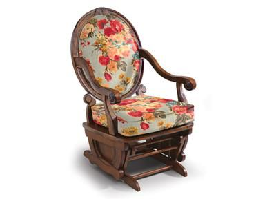 Shop for Best Home Furnishings Glide Rocker, C1037DP, and other Living Room Chairs at Best Home Furnishings - IFRAME in Ferdinand, IN. This Victorian styled hand carved piece offers elegance to a traditional glider rocker. Available in a Distressed Pecan finish, for an aged, oiled look, this glide rocker is one of a kind with its oval, fully upholstered wood frame back.