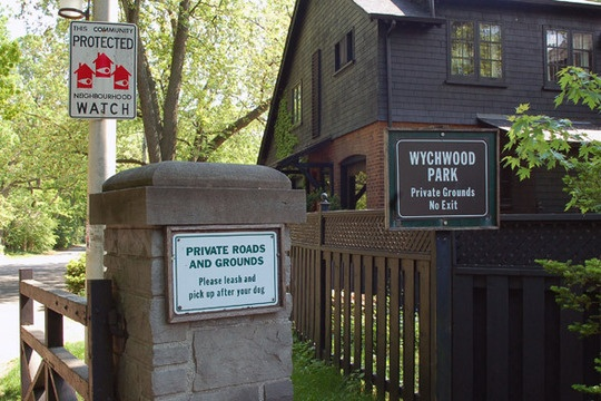 Wychwood Park - this is the most picturesque residential area in Toronto (in my opinion any way).  So many beautiful houses and old trees.  You may never be able to live here, but you can take a nice stroll any time of the year.