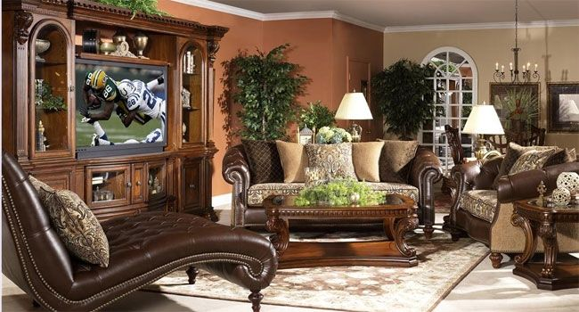 Royal Living Room Furniture. Here comes the royal living room with classic wooden furniture and  elaborated upholstery homedecortips Designs For Living Rooms Pinterest Wooden