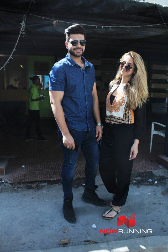 Anusha Dandekar and Karan Kundra at Bombay Salad