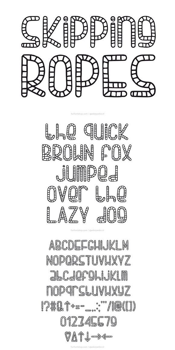 Skipping Ropes Font. Display Fonts. $15.00