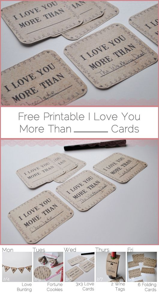 Free Printable I Love You More Than Cards