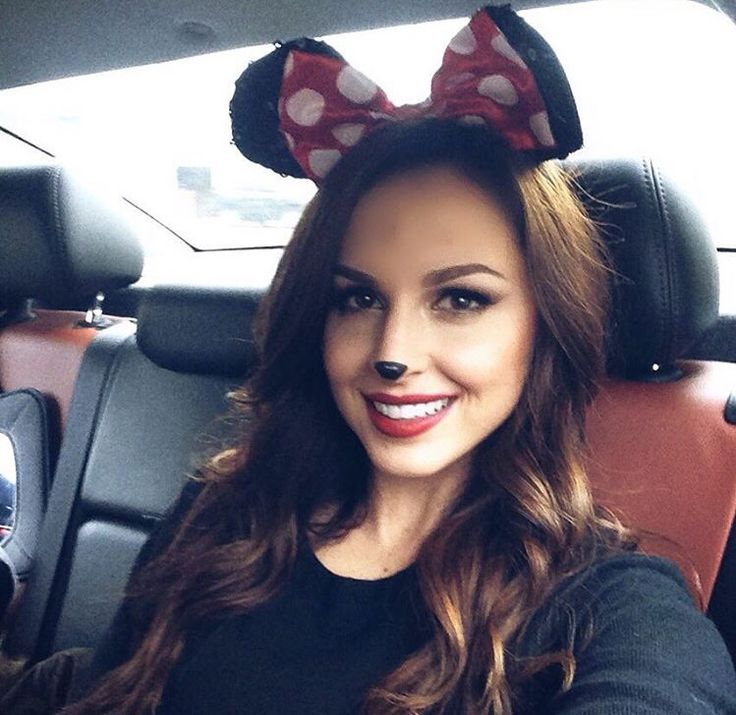 Easy Minnie Mouse costume. #minniemouse #costume #makeup #halloween | @brittanyleighxoxo