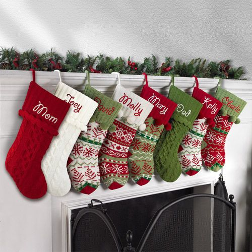 LOVE THIS!!! Personalized Stockings w/out the steep price tag! Snowflake Knit Christmas Stocking $18 @ Walmart