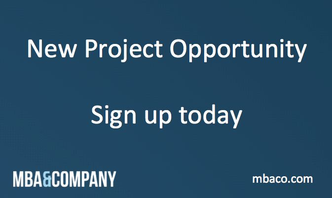 Entrepreneurial consultant with Business Development and Sales background  https://www.mbaco.com/projects/entrepreneurial-consultant-with-business-development-and-sales-background