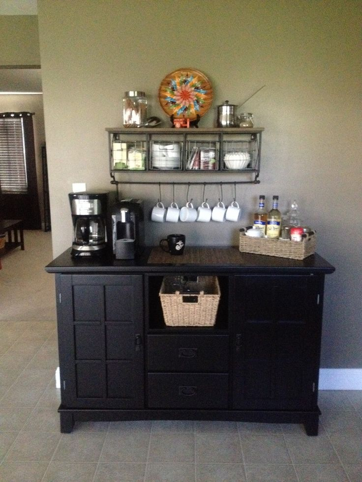 1000 images about work on pinterest shelves coffee for Coffee station furniture