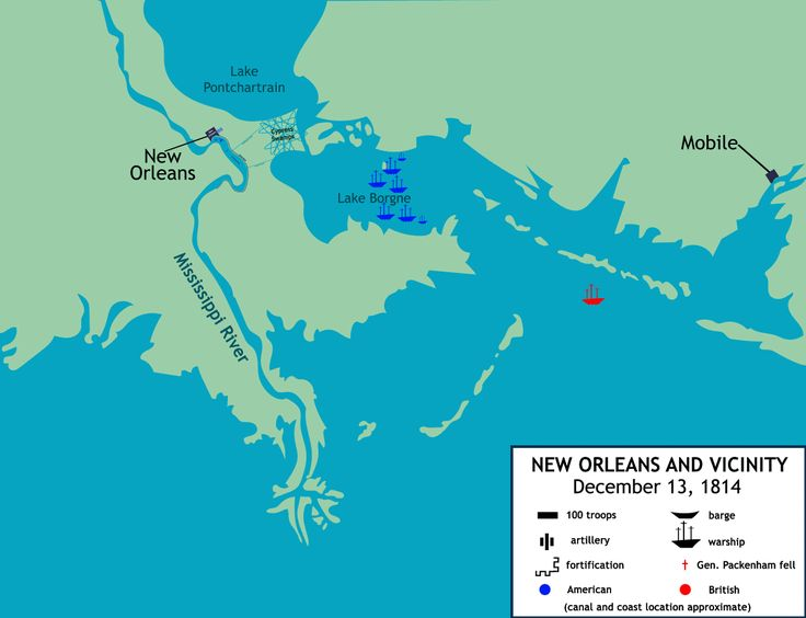 The Battle Of New Orleans C Louisiana USA Animation Map - Louisiana on usa map