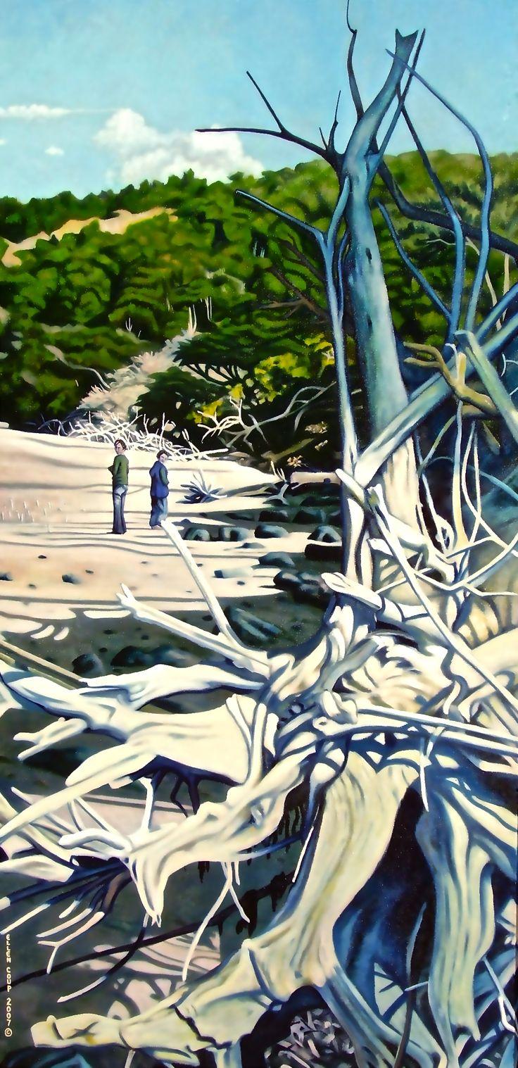 """Moko"" Oil on Canvas, 160cm x 90cm, Sold"