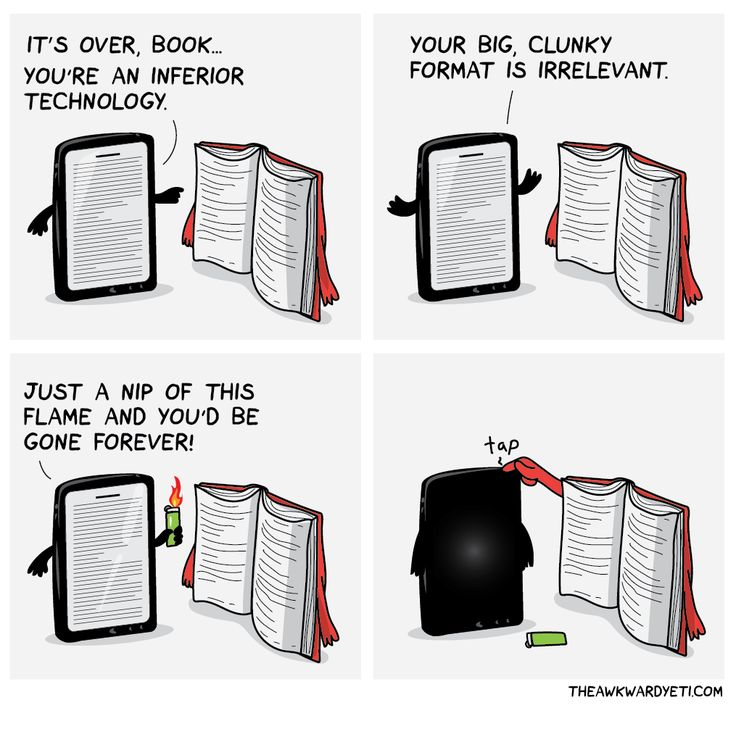 I have this battle all the time. I'm an avid reader who likes to have physical copies of books but I also realize that carrying a kindle/kindle app on my phone is a lot easier than carrying a physical book. So which is actually better?