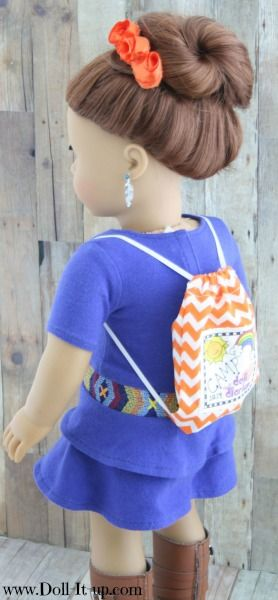 Make a drawstring backpack for dolls-pattern included!