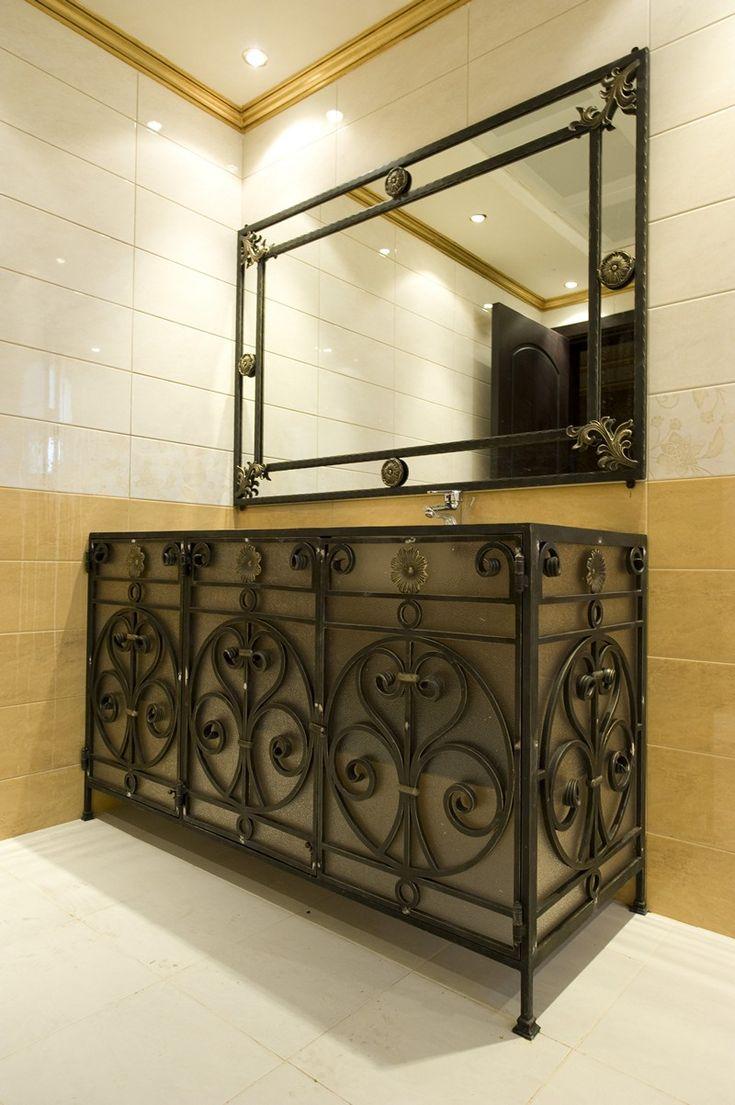 Wrought Iron Bathroom