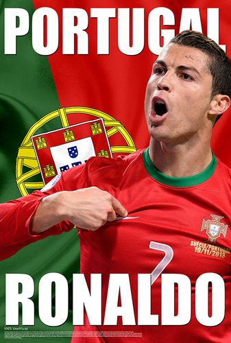 Cristiano Ronaldo PORTUGAL PROUD World Cup 2014 Soccer Superstar Poster - Starz