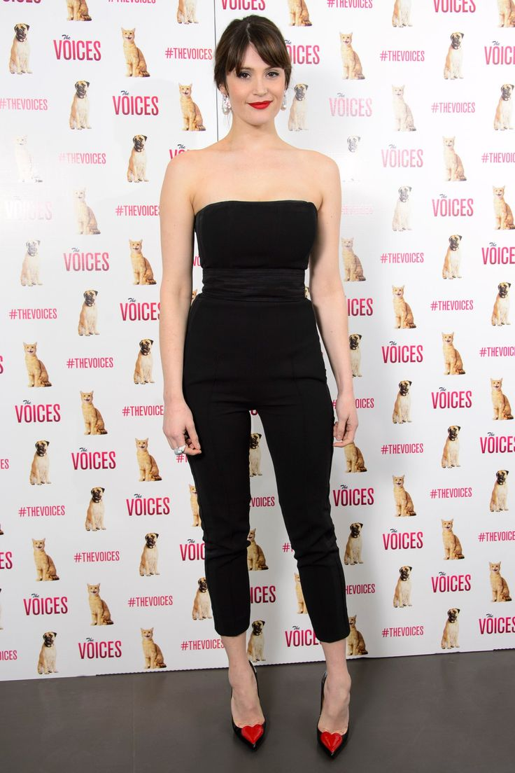 Unfortunately, the English actress loses her head (literally) in new film The Voices. Thankfully, she was all in one piece at this week's screening in London.