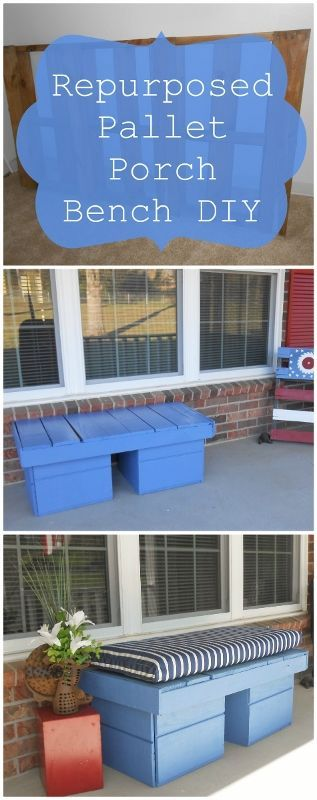DIY Repurposed Pallet Porch Bench