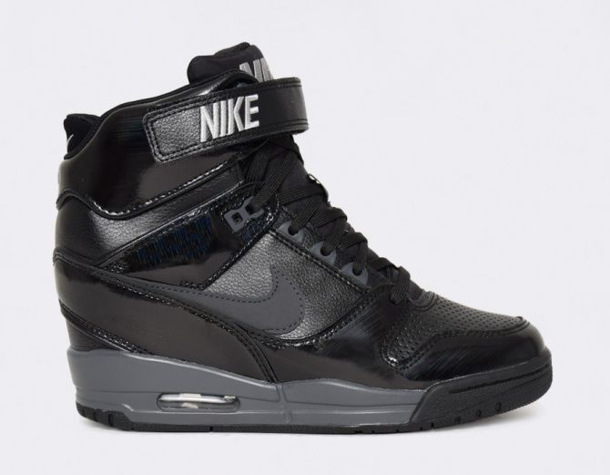I don't normally do sneakers but I kind of like these... #Nike Air Revolution Sky Hi Wmns - Black #sneakers