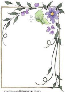 Bordes para decorar hojas Nuevas imágenes ☟ | Imagenes para imprimir.Dibujos para imprimir