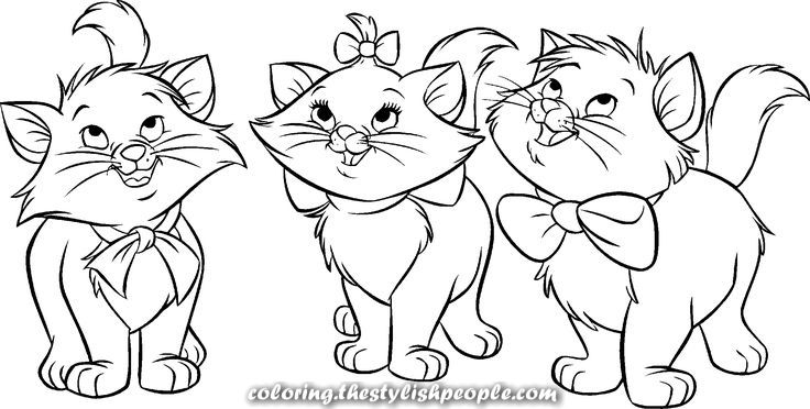 Creative And Great Aristocats Marie Berlioz Toulouse Gif 2 1 1 0pixels Cat Coloring Page Cute Coloring Pages Kitty Coloring