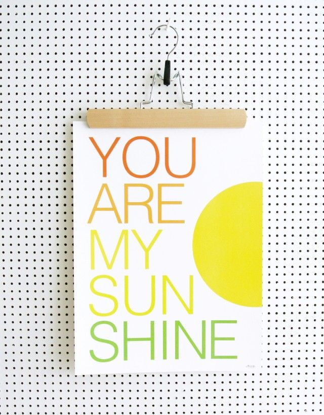 You are my sunshine, my only sunshine. You make me happy, when skies are grey! Poster by Och form #nordicdesigncollective #yellow #trend #trendcolor #trendcolour #easteryellow #easter #poster #sun #sunshine #happy #typography #youaremysunshine #shine #shining #shiny #print #art #wallart #paper #swedishdesign