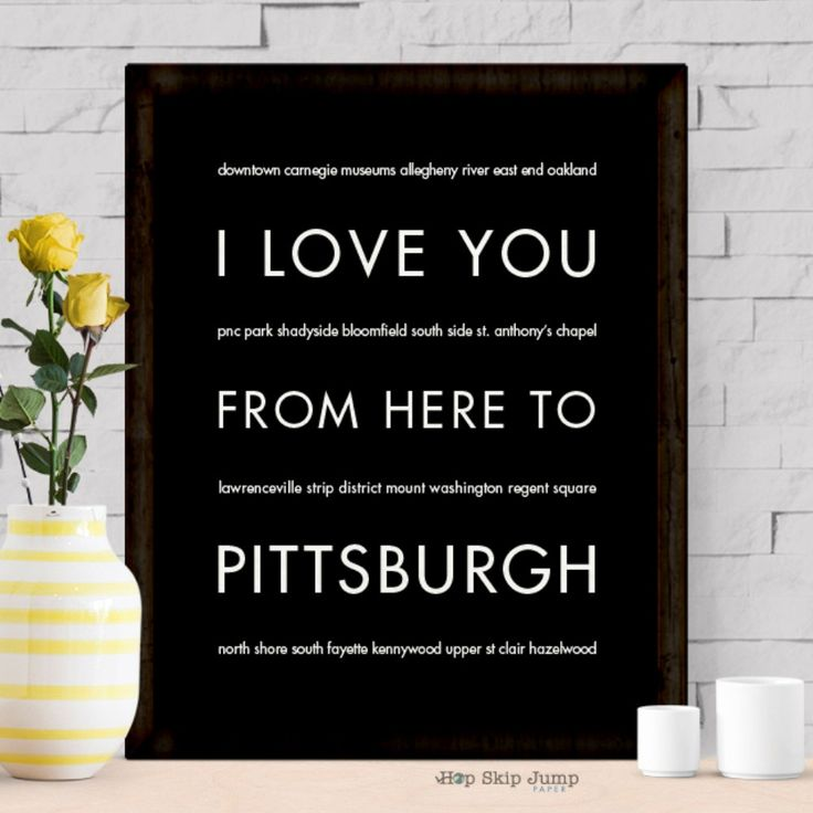 Celebrate your favorite Pennsylvania city, Pittsburgh! Whether your traveled there on business, pleasure, or for family, keep your memories close to your heart with the unique wall art. This special t