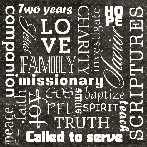 Missionary subway art - card  Template ID: 81706