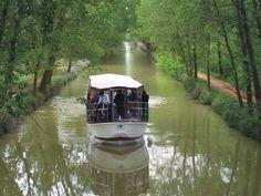Crucero fluvial por el #CanalDeCastilla desde #MedinaDeRioseco. Conoce otros atractivos de esta ruta fluvial en: http://destinocastillayleon.es/index/ruta-por-el-canal-de-castilla-de-valladolid-palencia/