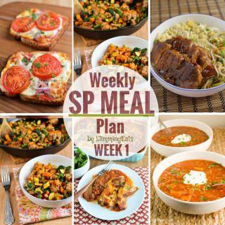 Slimming Eats SP Weekly Meal Plan – Week 1