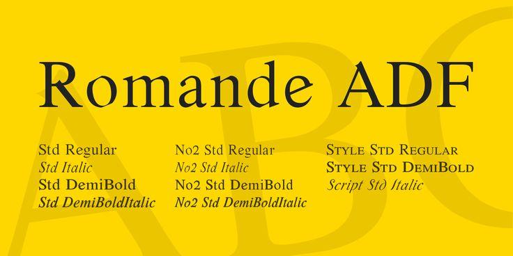 Romande ADF Font Family · 1001 Fonts