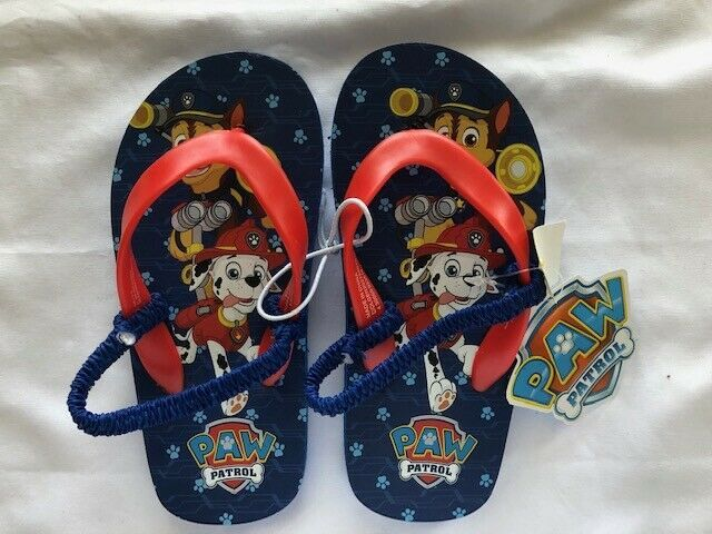 Boy/'s Youth UNBRANDED Black+Red+Navy Casual Fashion Flip Flops//Sandals NEW