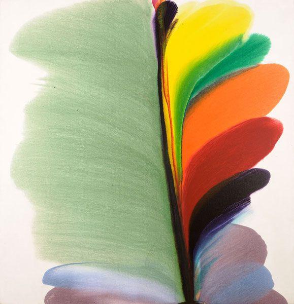 Paul Jenkins Phenomena Jade Wind Shadows 1977 77 x 74
