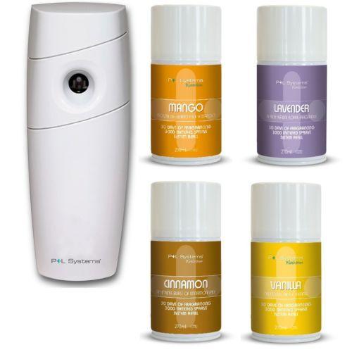 Starter Pack, LED Dispenser Air Freshener Refill Pack Of 4 X 270ml, P+