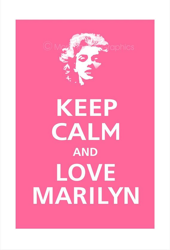 MARILYN MONROE Keep Calm and Love Marilyn Poster by PosterPop, $15.95